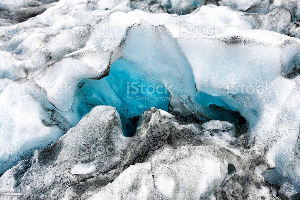 Ice Formation on Franz Josef Glacier in New Zealand stock photo