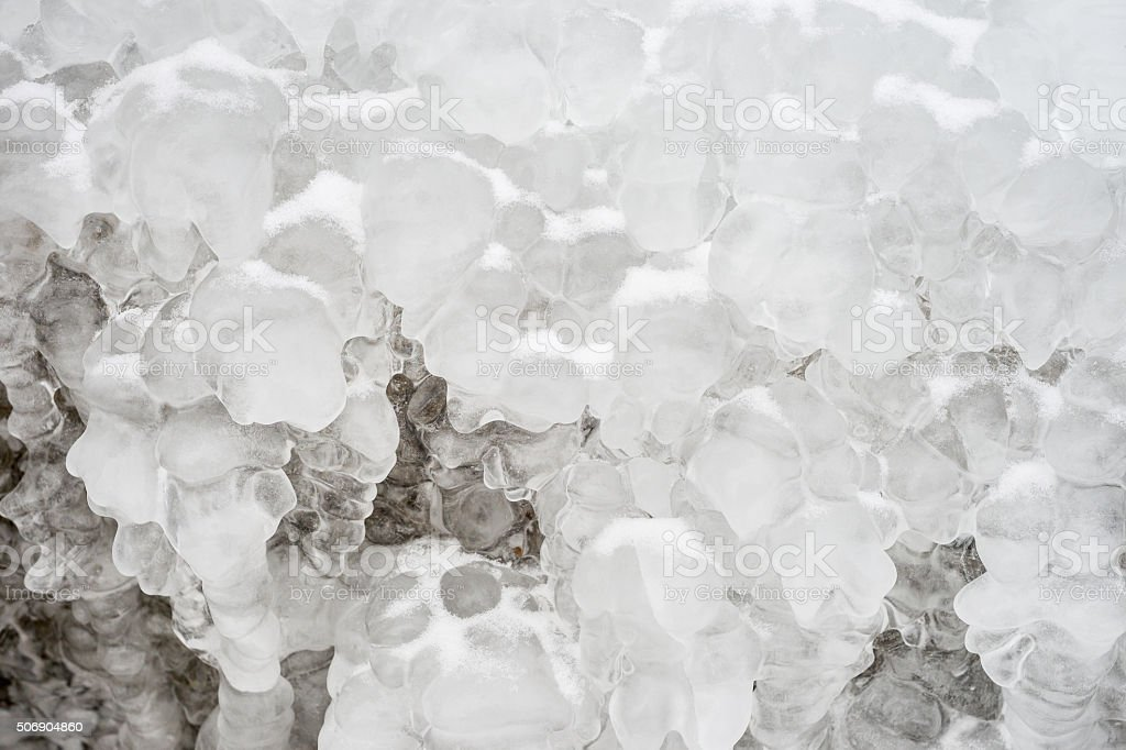 Ice formations stock photo