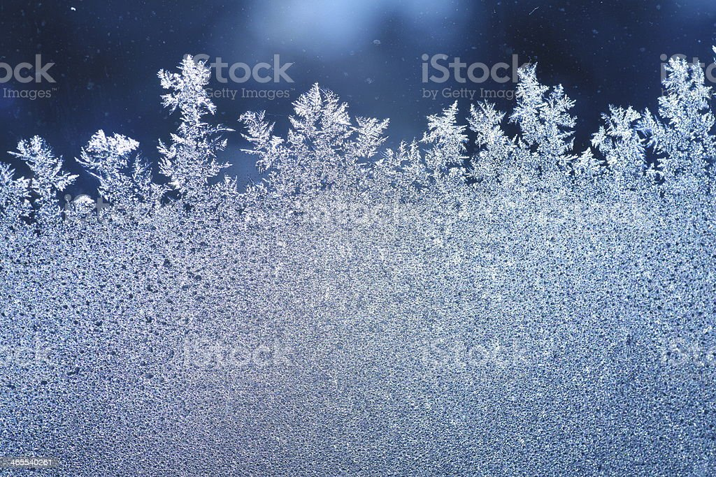 ice frost window stock photo