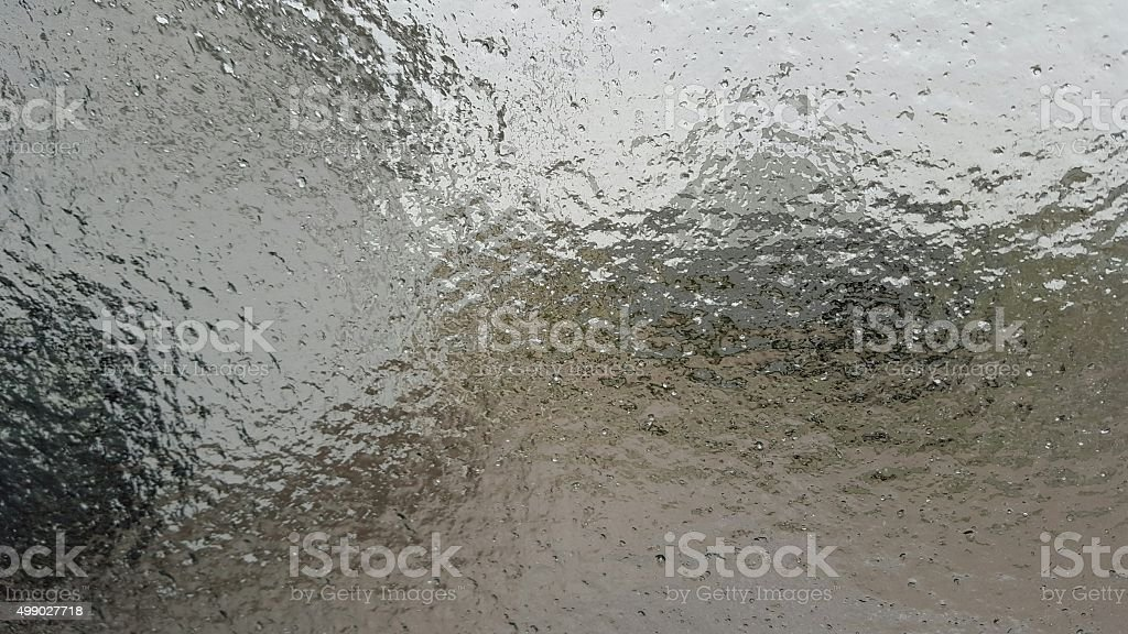 Ice Glaze on Truck Window stock photo