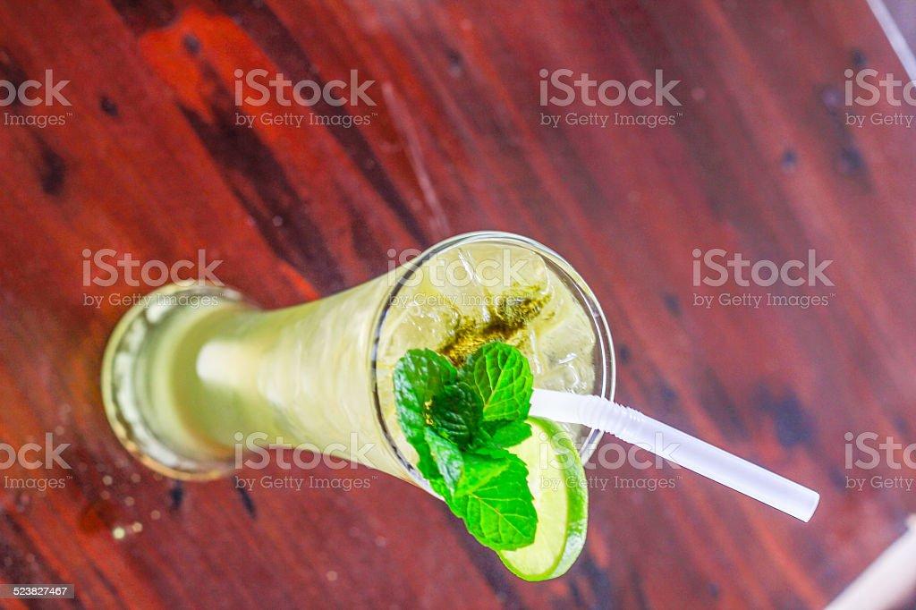 ice green tea stock photo