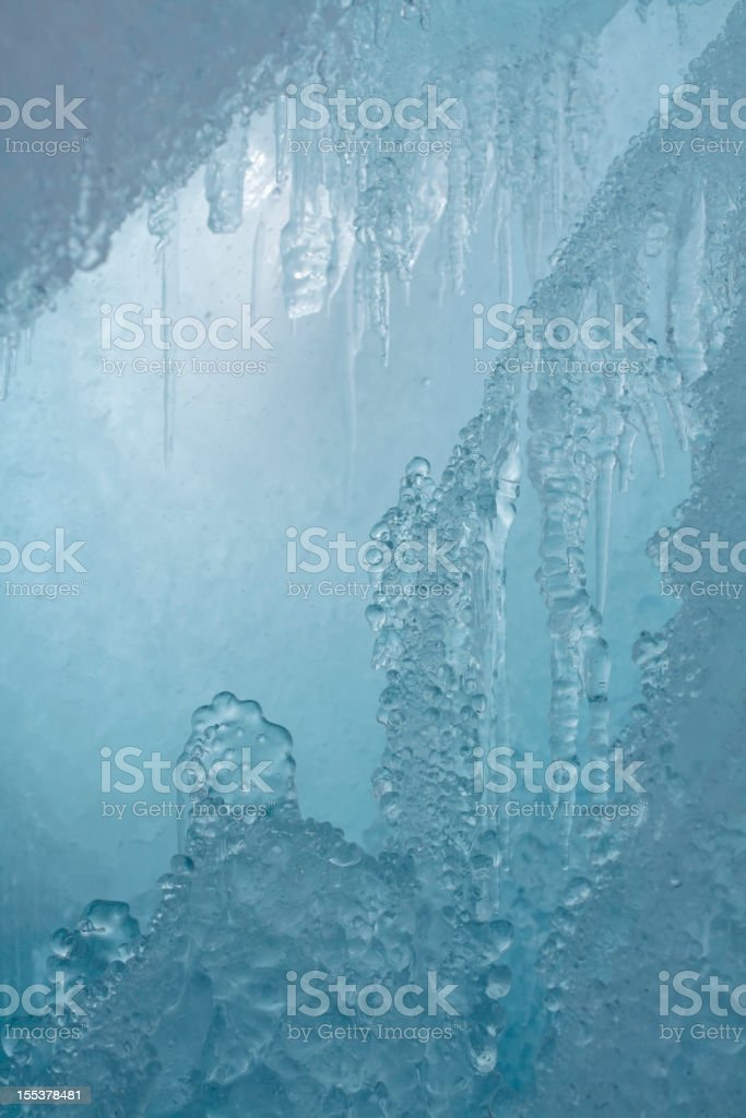 Ice grotto royalty-free stock photo