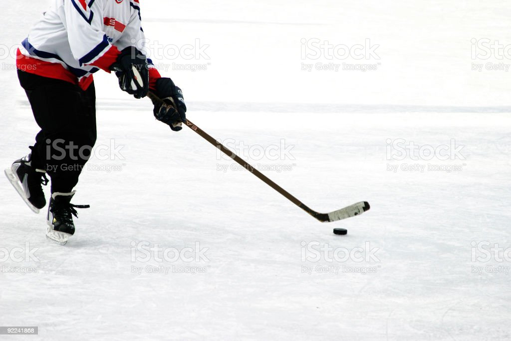 Ice hocker player stock photo