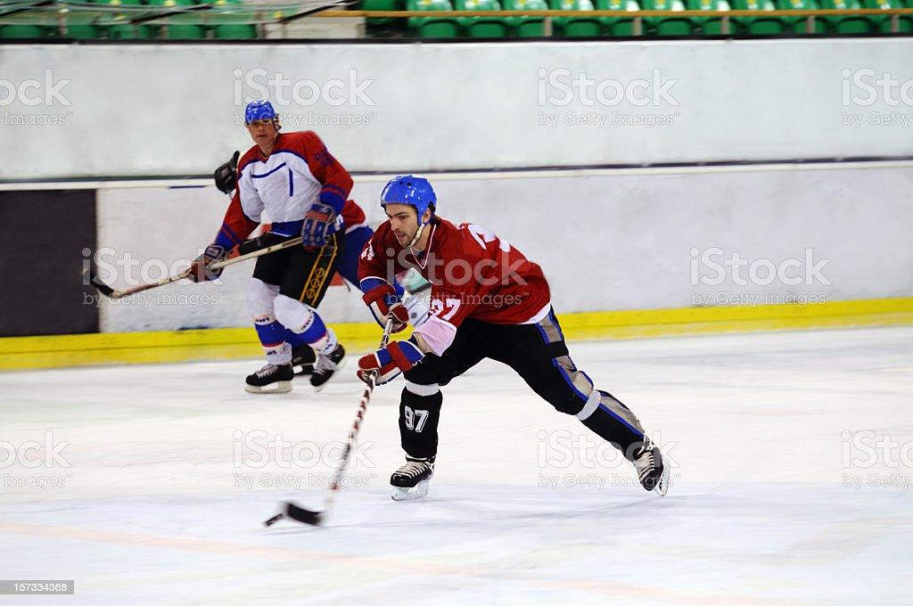 Ice hockey action royalty-free stock photo