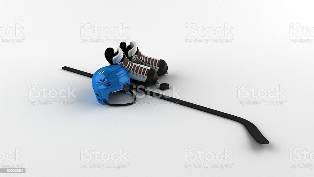 Ice Hockey Equipment bg stock photo