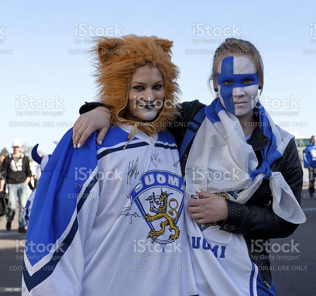 Ice Hockey Fans royalty-free stock photo