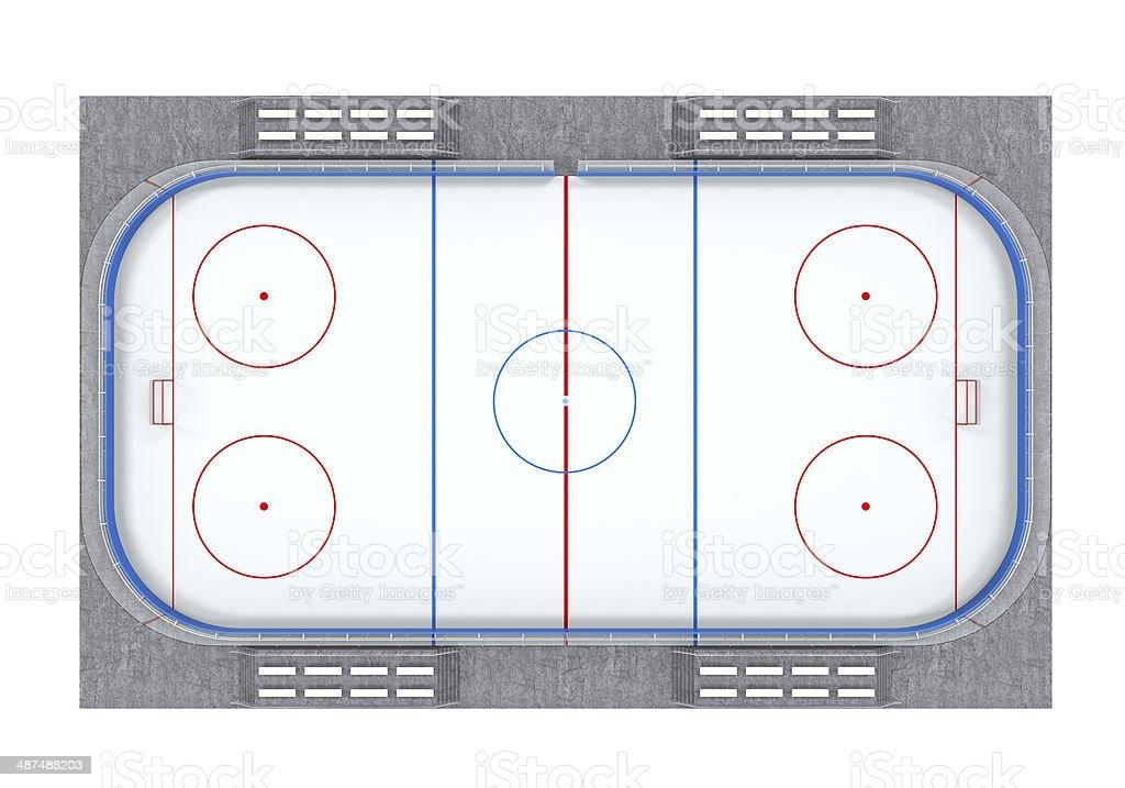 Ice Hockey Field stock photo
