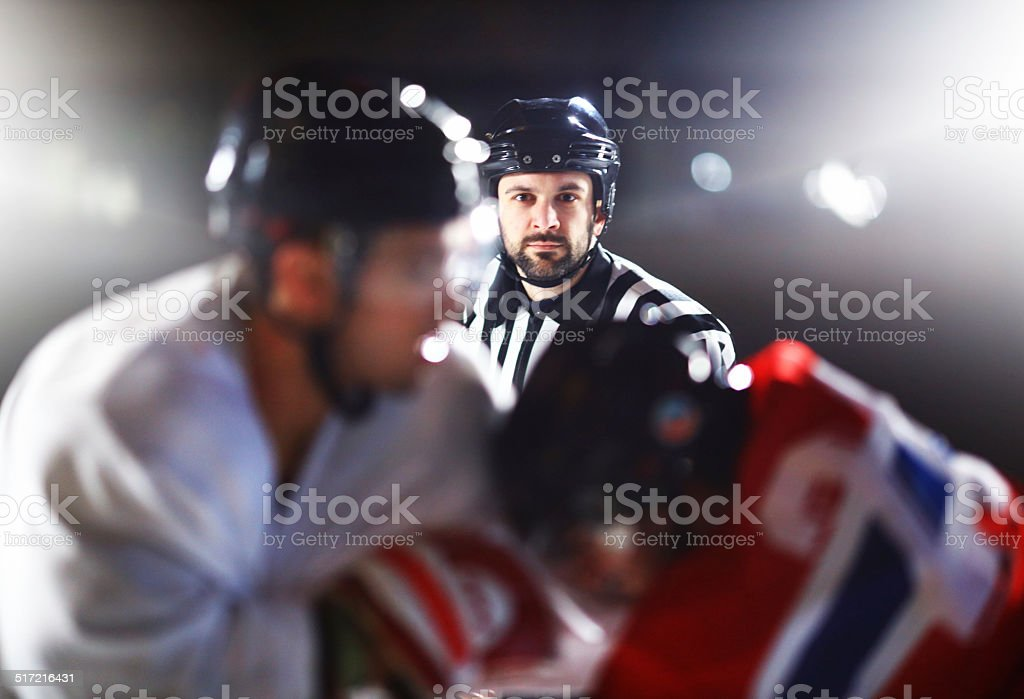 Ice hockey fight. stock photo
