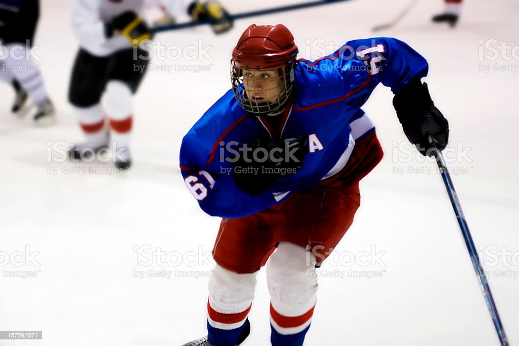 Ice hockey game action shot royalty-free stock photo