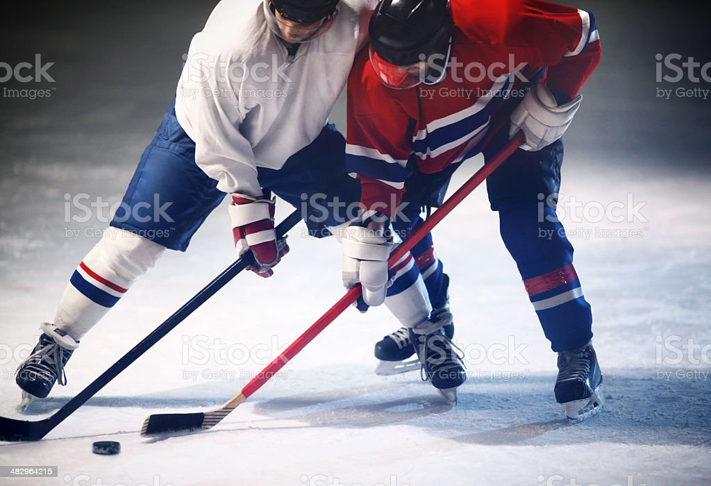 Ice hockey game. stock photo