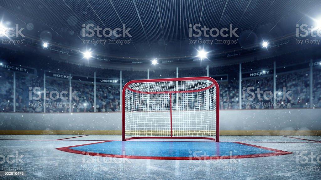 Ice hockey gates stock photo