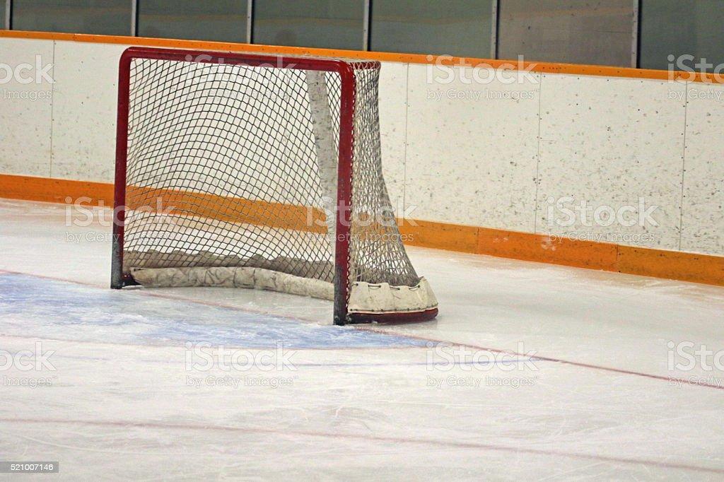 Ice Hockey Goal stock photo