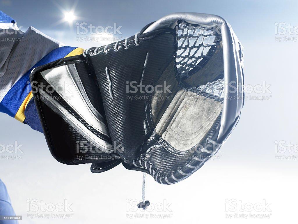 ice hockey goalie glove royalty-free stock photo