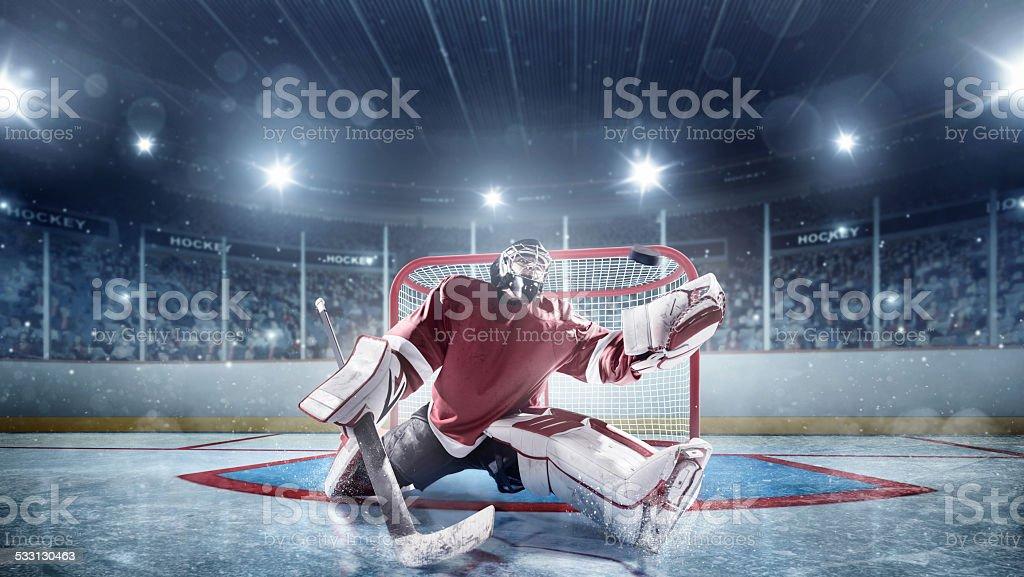 Ice Hockey Goalie royalty-free stock photo