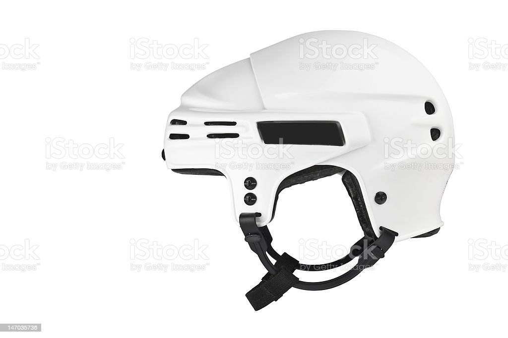 Ice Hockey Helmet stock photo