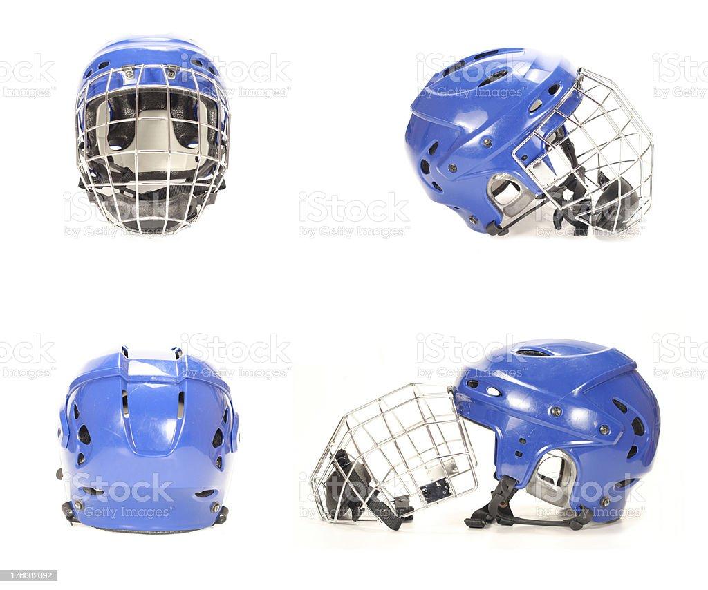 Ice hockey helmets royalty-free stock photo