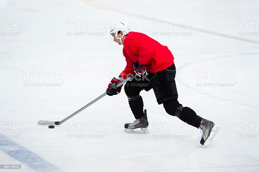 Ice Hockey Player in the Action stock photo