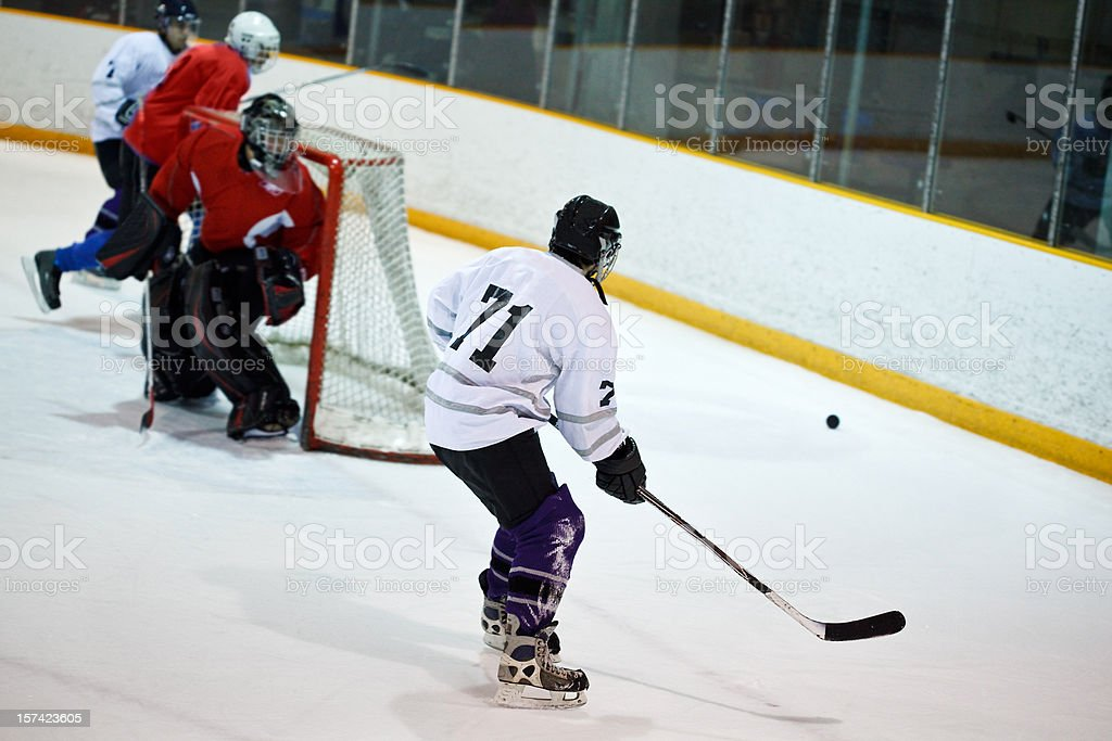 Ice hockey player royalty-free stock photo