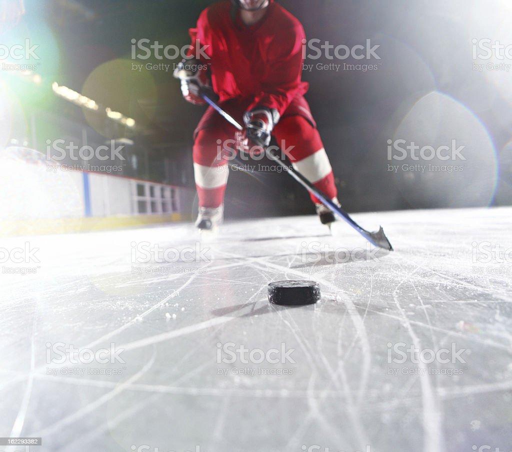 Ice hockey player. stock photo