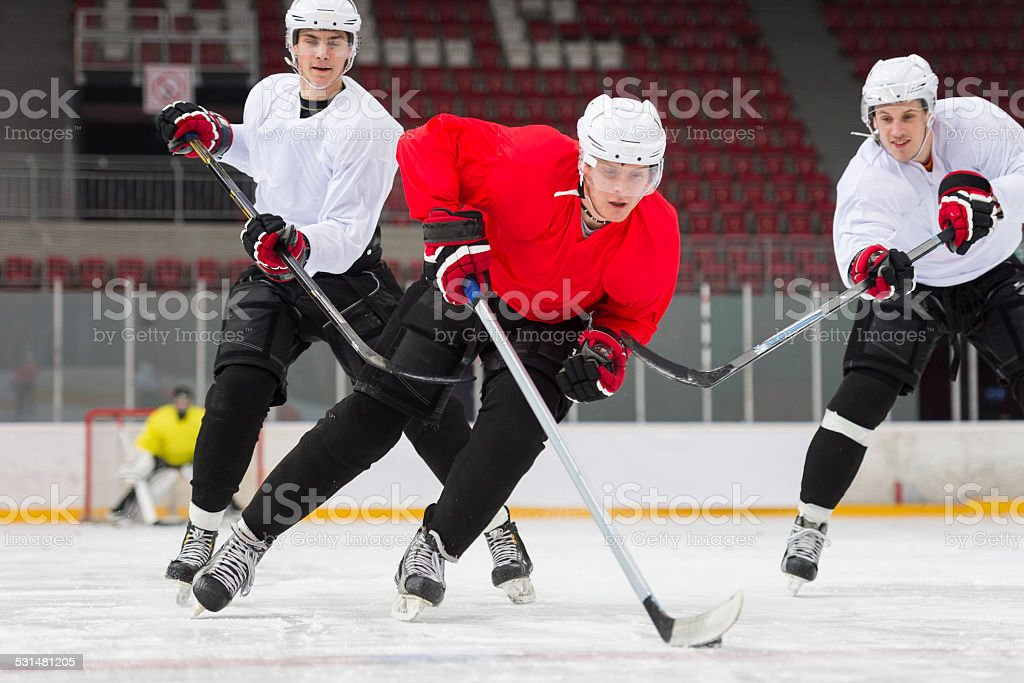 Ice Hockey Players in the Action stock photo