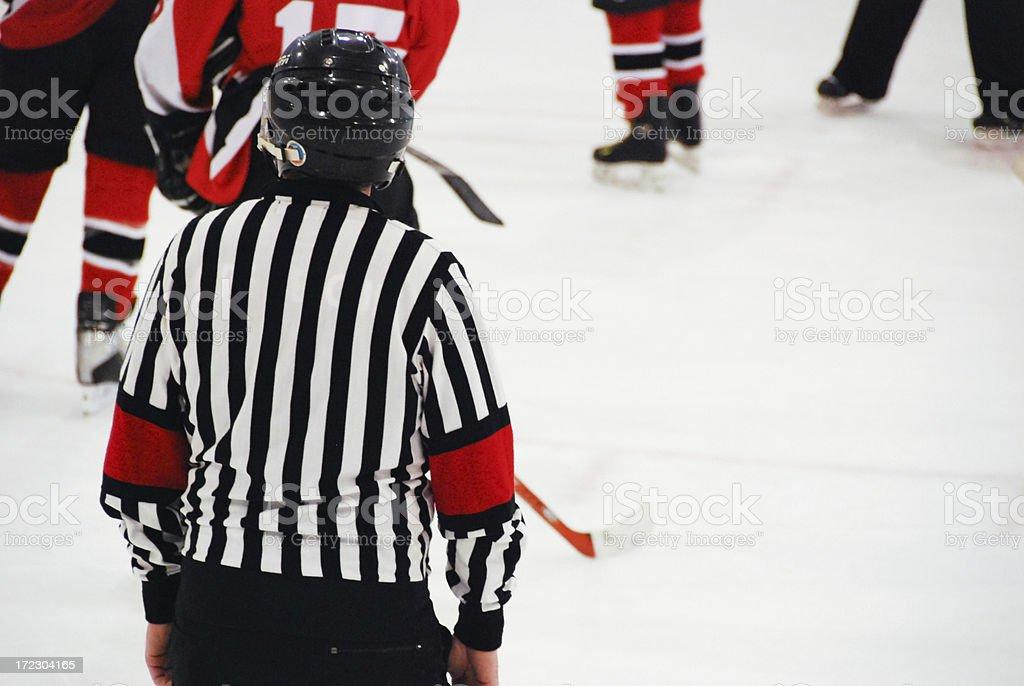 Ice Hockey Referee royalty-free stock photo