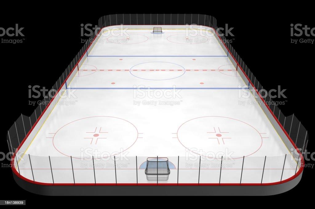 ice hockey rink stock photo