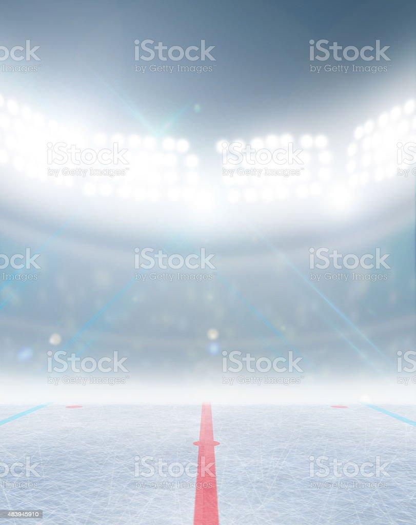 Ice Hockey Rink Stadium stock photo