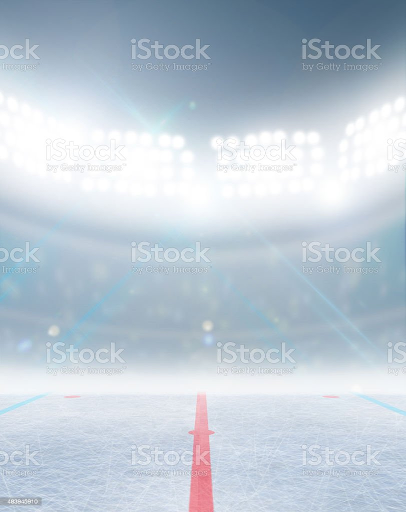 Ice Hockey Rink Stadium stock photo