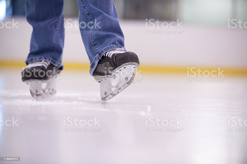 Ice hockey skates royalty-free stock photo