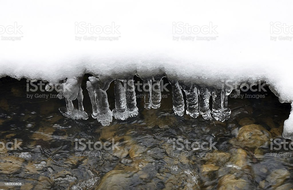 Ice icicles royalty-free stock photo