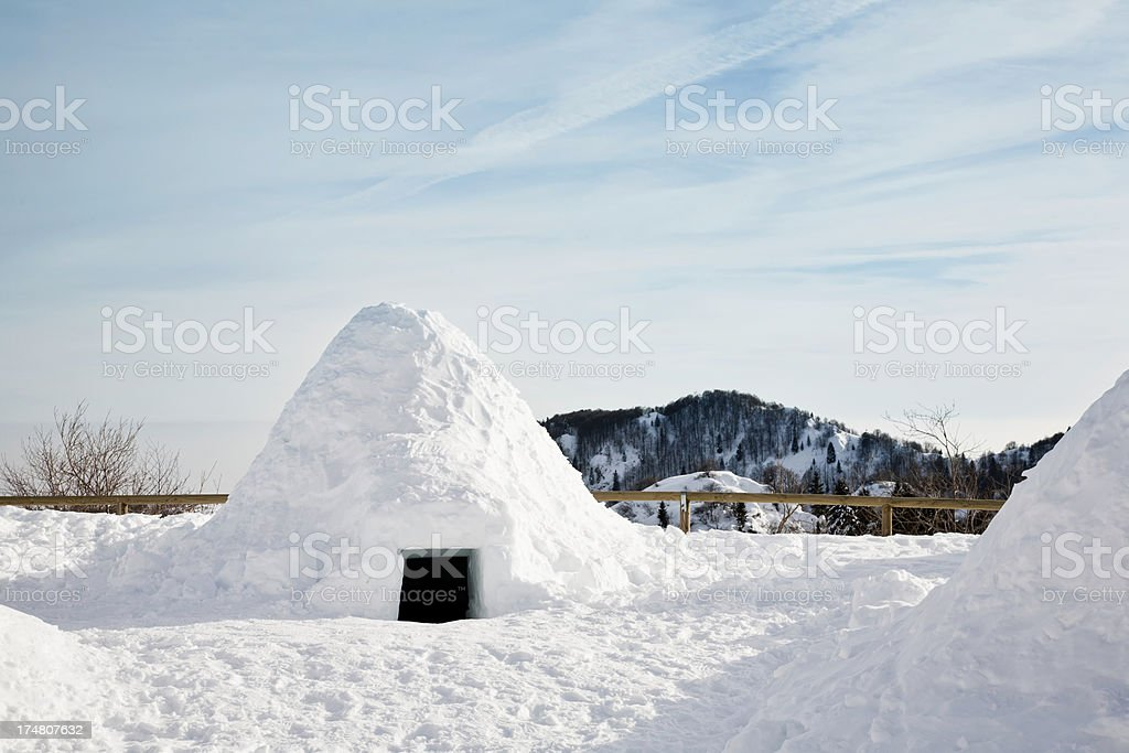 Ice igloo royalty-free stock photo