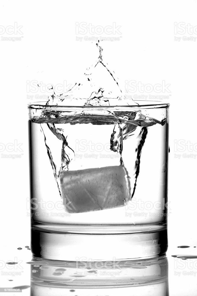 Ice in a Glass of Gin royalty-free stock photo