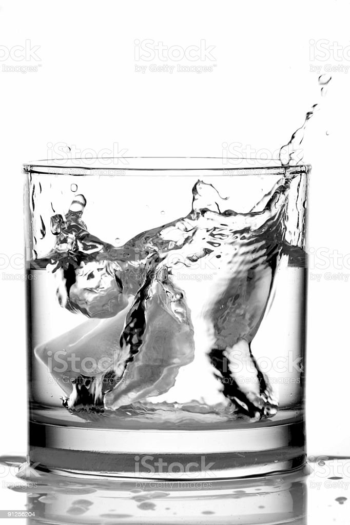 Ice in a Glass of Vodka royalty-free stock photo