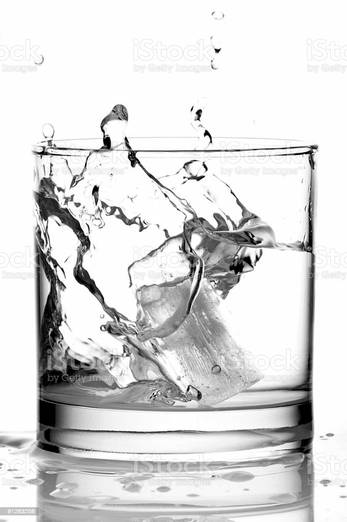 Ice in a Glass of Vodka stock photo