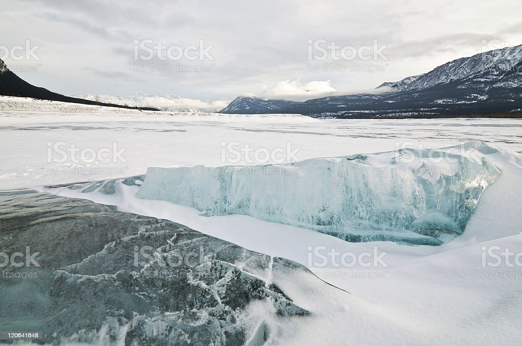 Ice in the Canadian Rockies stock photo