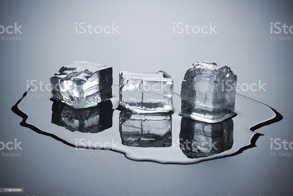 ice in water stock photo