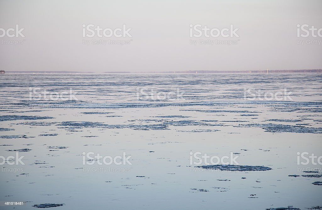 Ice is breaking up royalty-free stock photo