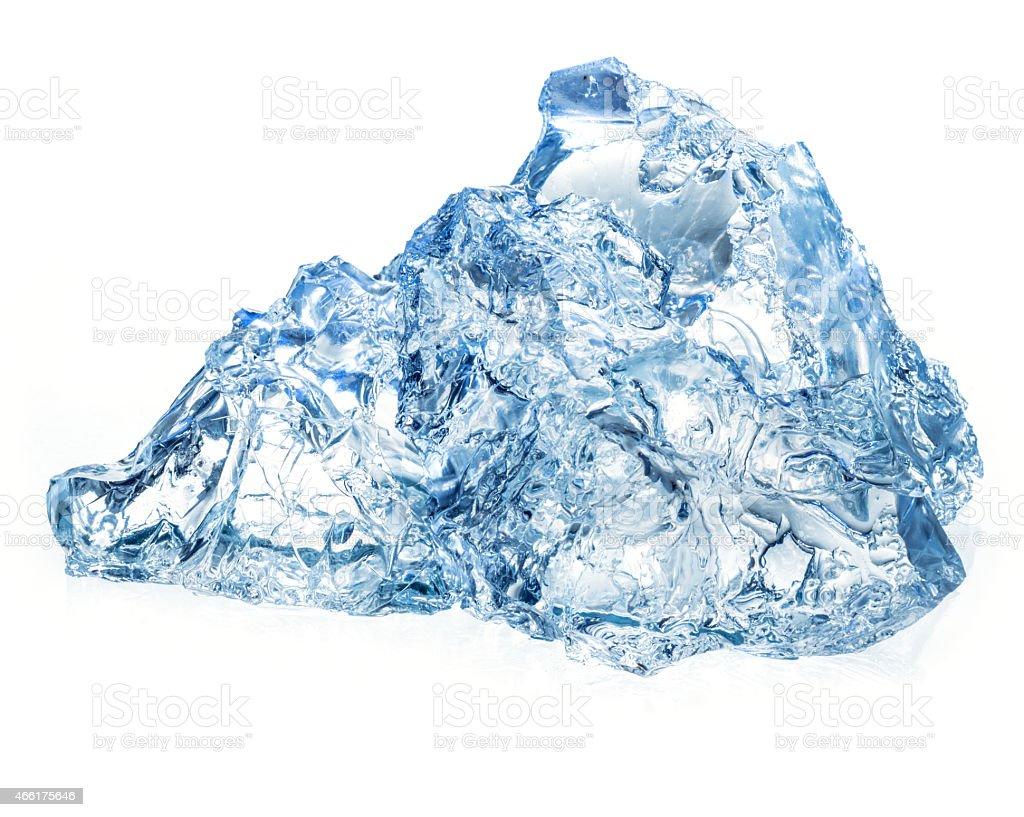 Ice isolated on white background stock photo