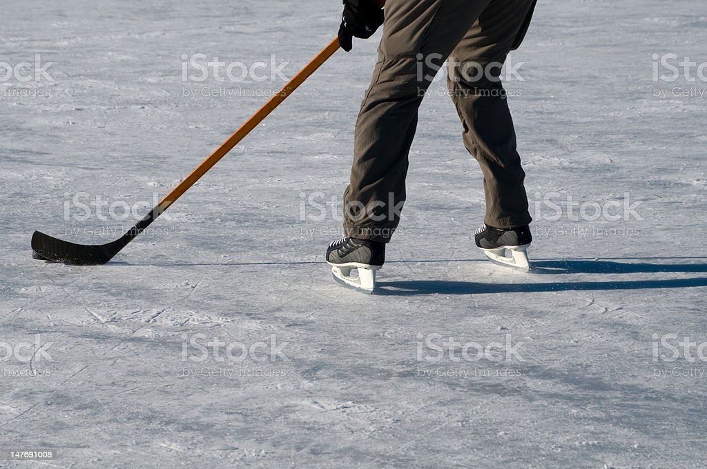 ice lake hockey royalty-free stock photo