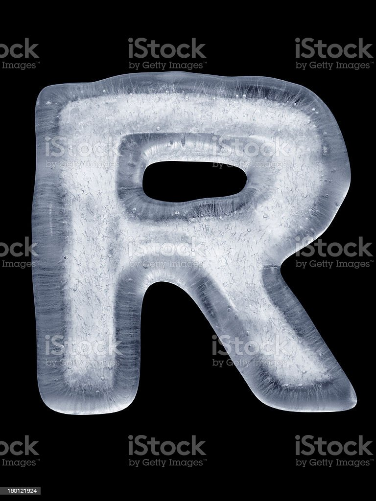 Ice Letter R royalty-free stock photo