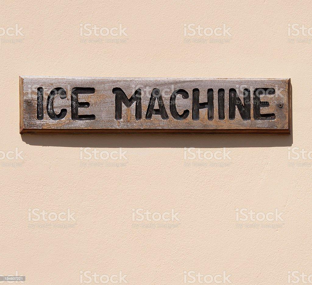 Ice machine stock photo