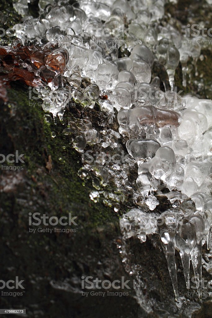 Ice macro royalty-free stock photo