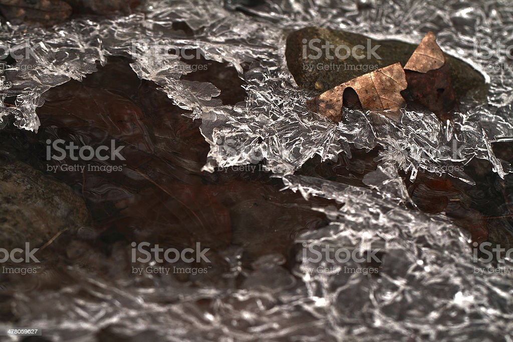 Ice macro royalty-free stock photo