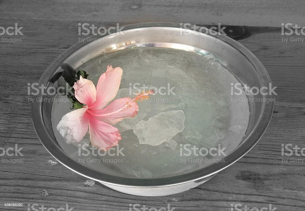 Ice made from refrierator stock photo