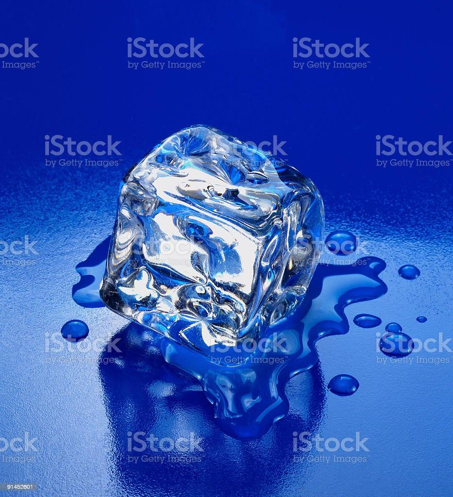Ice melting royalty-free stock photo