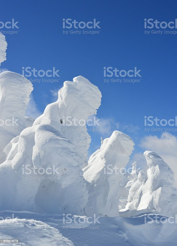 Ice Monsters in mount ZAO stock photo