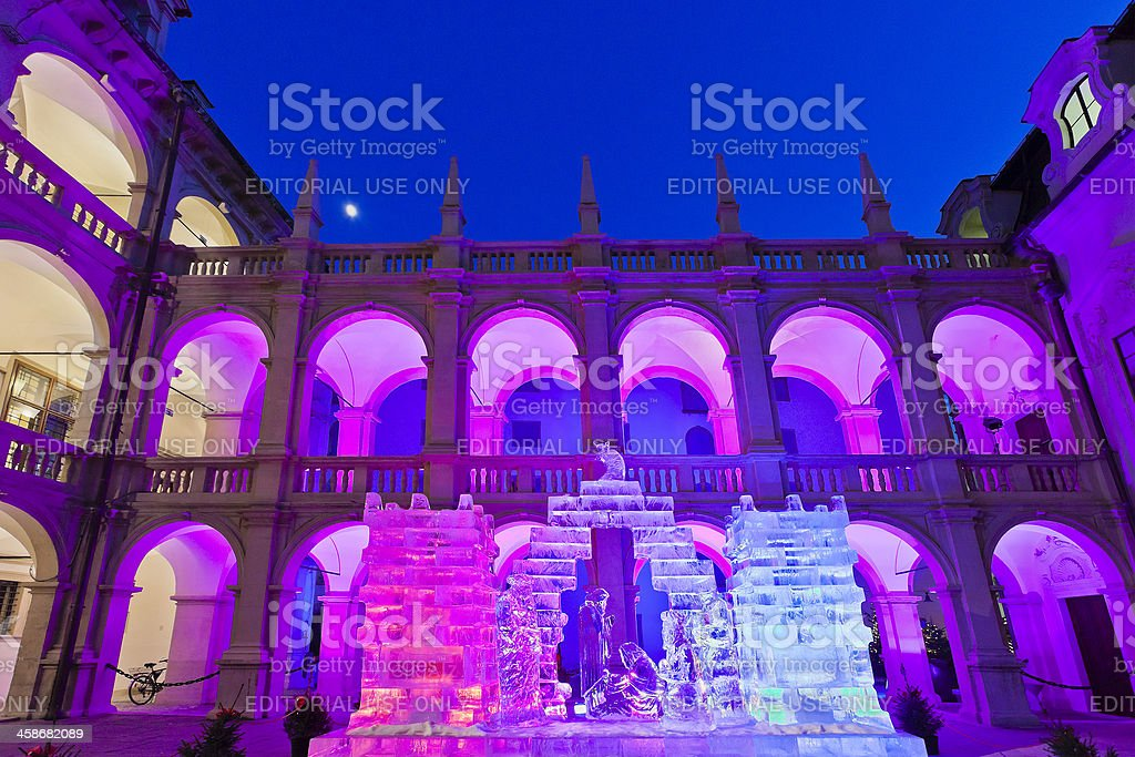 Ice Nativity Scene, Graz royalty-free stock photo