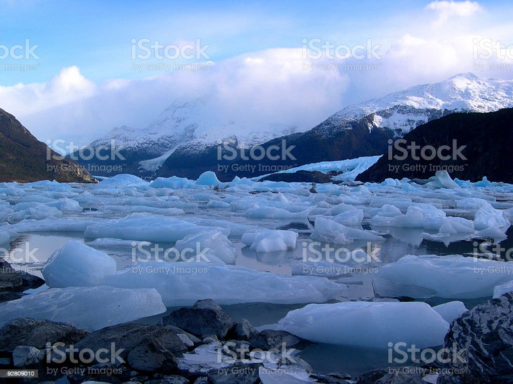 Ice Near and Far. stock photo