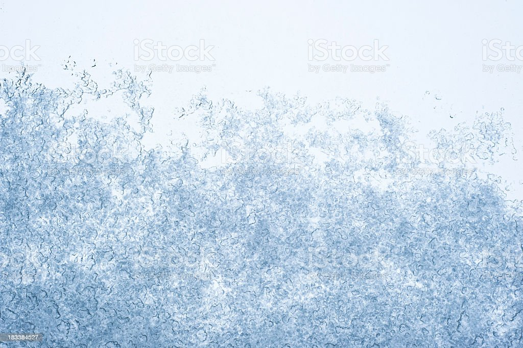 Ice On Glass Texture stock photo