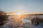 Ice on gulf of Bothnia Baltic Sea